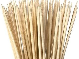 Authentic Bamboo Marshmallow Roasting Sticks  Perfect for S Mores  Includes 100 Extra long 30  Bamboo Skewers with 5mm Heavy Duty Thickness  Ideal for Grilling Hot Dogs  Kebabs   More