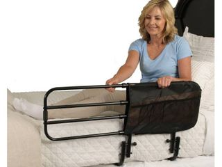 Stander EZ Adjust Bed Rail  Adjustable Adult Bed Rail and Elderly Bed Assist Hand Rail for Seniors