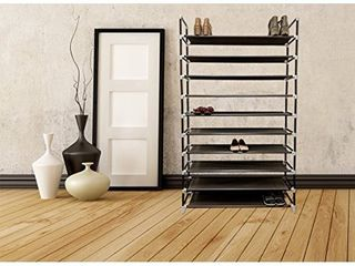 MAbelmaster 10 Tier 2x 5 Tier Shoe Rack 50 Pairs Shoe Organiser Shoes Storage Shoe Shelf Shoe tower Non Woven Fabric
