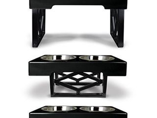 Pet Zone Designer Diner Elevated Dog Feeder  Black