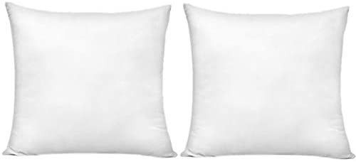 18 x 18 Inch Pillow Inserts  Set of 2  HIPPIH Decorative Throw Pillow Inserts  Hypoallergenic Square Pillow Form Insert  Upgraded