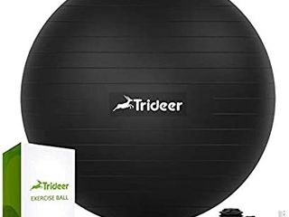 Trideer Exercise Ball  45 85cm  Extra Thick Yoga Ball Chair  Heavy Duty Stability Ball Supports 2200lbs  Birthing Ball with Quick Pump  Office   Home   Gym