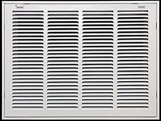 20  X 16  Steel Return Air Filter Grille for 1  Filter   Removable Face Door   HVAC Duct Cover   Flat Stamped Face  White  Outer Dimensions  21 75w X 17 75h