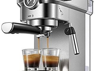 Yabano Espresso Machine  Compact Espresso Maker with Milk Frother Wand  15 Bar Professional Coffee Machine for Espresso  Cappuccino and latte