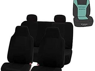 Seat Covers  Black  Full Set with Gift a Universal Fit for Cars Trucks   SUVs