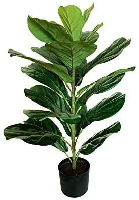 30  little Artificial Fiddle leaf Fig Tree   Faux Ficus lyrata for Home Office Decoration