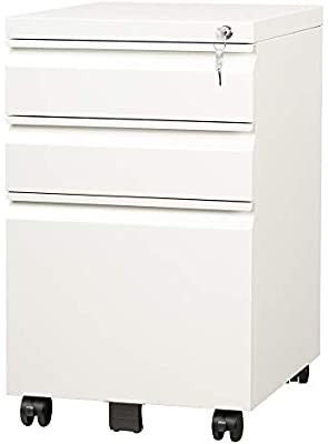 DEVAISE 3 Drawer Mobile File Cabinet with lock  Fully Assembled