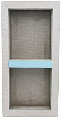 Houseables Shower Niche  Insert Storage Shelf  12x28 Inch  Installation Size  13 x29  leak Proof  Waterproof  Recessed Preformed Niches  Tileable Prefab