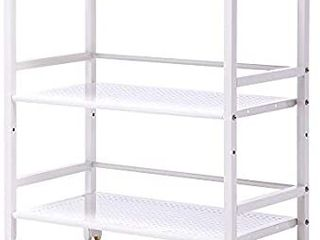 SINGAYE 3 Shelf Metal Rolling Utility Cart with Wheels