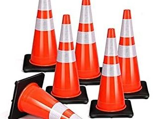 8 PCS Traffic Cones  28  PVC Safety Road Parking Cones Driving Construction Cones