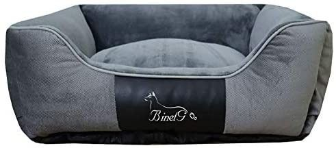 BinetGo Warming Dog Beds  Rectangle Washable Pet Bed with Firm Breathable Cotton Medium
