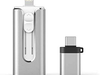 USB 3 0 Flash Drive 128GB Thumb Drive 3 in 1 USB Memory Stick External Storage USB Drive Photo Stick Compatible with iPhone Samsung iPad Mac PC laptop OTG Smartphone Tablet