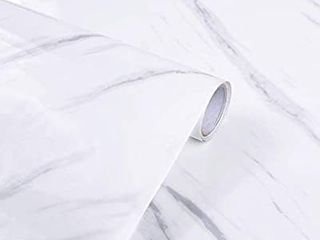 Decorative Marble Self Adhesive Paper 24  x 196  Roll Kitchen countertop Cabinet Furniture is renovated Thick Waterproof PVC