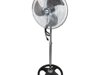 Comfort Zone CZHVP18EX   18  High Velocity Oscillating Pedestal Fan  Black