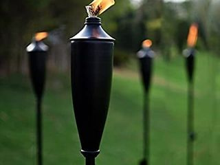 Deco Home Set Of 4 Tikki Backyard Torch   60 Inch Citronella Garden Black