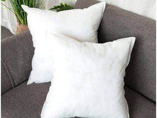 XBYEE Premium Hypoallergenic Polyester Decorative Pillows High loft Throw Pillows 18x18 Pillow Inserts  Decorative Stuffer Soft Polyester Couch Square Form Euro Sham Cushion Filler  White