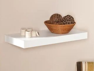 2 Porch   Den Hi line 24 inch White Floating Shelf