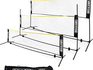 Boulder Portable Badminton Net Set  for Tennis  Soccer Tennis  Pickleball  Kids Volleyball