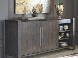 Strick   Bolton Vignola Grey Wood Dining Room Server  Retail 1064 99