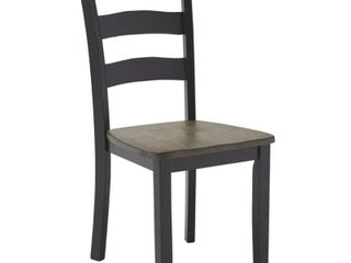 The Gray Barn Earth Dance Black Dining Chair with Grey Brown Seat