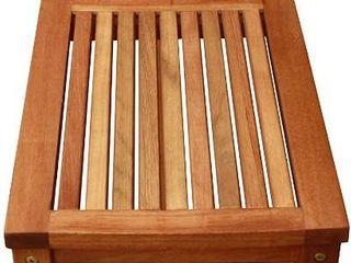 luuNguyen Backless Hardwood Bench  Natural Wood Finish  Retail   189 90