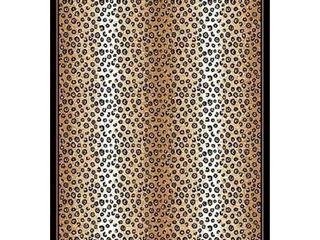 Porch   Den la Carter Brown Cheetah Print Area Rug  Retail 98 99