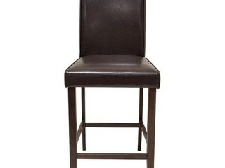 Best Master Furniture Espresso Faux leather Counter Height Kitchen Chair  Set of 2  Retail 135 49