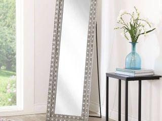 Abbyson Melania Bohemian Silver Floor Mirror  Retail   202 99