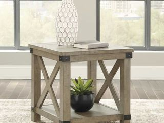 Aldwin End Table Signature Design by Ashley  Gray  Retail 189 99