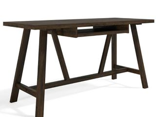 60 in  Rectangular Tobacco Brown Writing Desk with Solid Wood Material SimpliHome  Retail  359 00