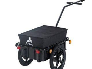 Aosom Double Wheel Internal Frame Enclosed Bicycle Cargo Trailer  Retail 119 99