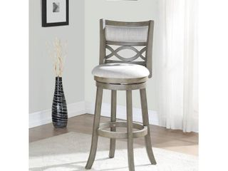 Manchester Antique Grey 29 inch Bar Stool with Fabric Seat  Retail
