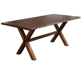 Simple living Mandeville live Edge Solid Wood Walnut Dining Table  Retail 405 498