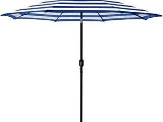Maypex 9 Feet Stripe Crank and Tilt Market Umbrella