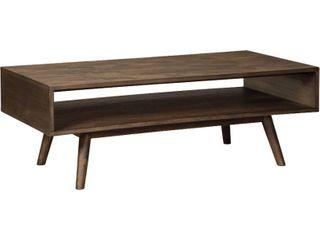 Kisper Mid Century Modern Wooden Rectangular Cocktail Table  Retail 257 49