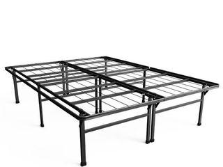Sleep Master Elite Platform Metal Bed Frame Mattress Foundation  Queen