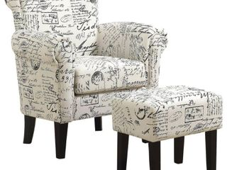 Monarch Specialties Accent Chair and Ottoman in Vintage French  Retail   650 00