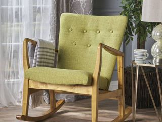 Callum Mid Century Fabric Rocking Chair by Christopher Knight Home  Retail 255 53