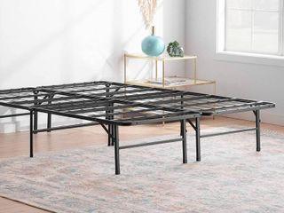 linenspa 14 Inch Folding metal platform Bed Frame  Full