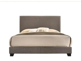 Emma Brown linen Upholstered Bed  Twin  Retail 98 49