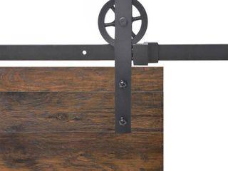 8 ft  Vintage Strap Industrial Wheel Steel Sliding Barn Wood Door Hardware by CAlHOME  Retail   194 00