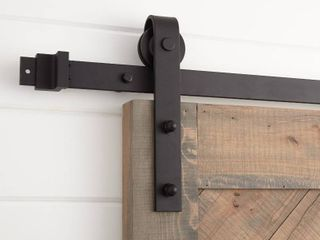 79 in  Classic Bent Strap Barn Style Sliding Door Track and Hardware Set by CAlHOME   Retail  156 00