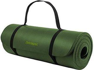 Retrospec Solana Yoga Mat 1 2    1  Thick w  Nylon Strap for Men   Women   Non Slip Excercise Mat for Yoga  Pilates  Stretching  Floor   Fitness Workouts