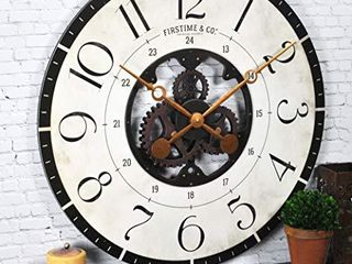 FirsTime   Co  Carlisle Gears Wall Clock  American Crafted  Multi Color  27 x 2 x 27