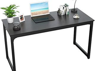 Foxemart Writing Computer Desk Modern Sturdy Office Desk PC laptop Notebook Study Table for Home Office Workstation  Black