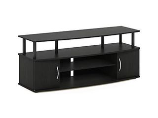 FURINNO JAYA large Entertainment Stand for TV Up to 50 Inch  Blackwood