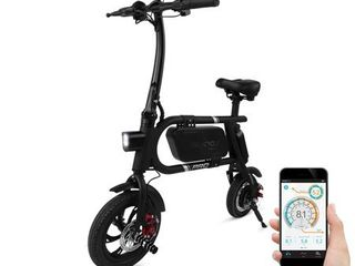SwagCycle Pro Folding Electric Bike  Pedal Free and App Enabled  18 mph E Bike with USB Port to Charge on the Go  Black
