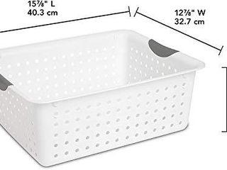 Sterilite 16268006 large Ultra Basket  White Basket w  Titanium Inserts  4 Pack