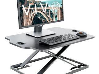 VIVO Black Height Adjustable Standing 32  Desk Sit Stand Tabletop Monitor laptop Riser Platform Station  DESK V000HB