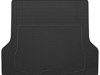 BDK Heavy Duty Cargo liner Floor Mat All Weather Trunk Protection  Trimmable to Fit   Durable HD Rubber Protection for Car SUV Sedan Auto